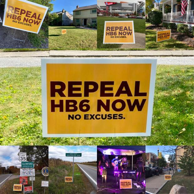 Sign saying Repeal HB6 now