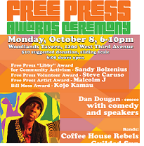 Colorful flyer with details of the event