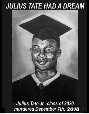 Black man in a graduation hat