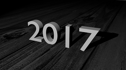 Black background with gray letters saying 2017