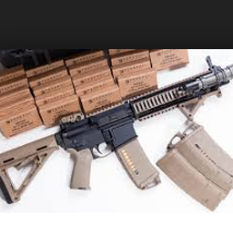 Machine gun and supplies