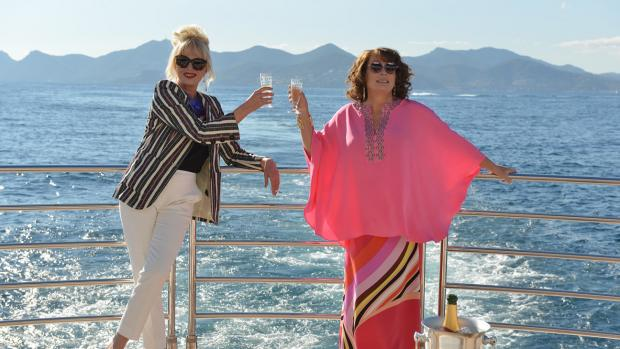 Two women drinking on a boat