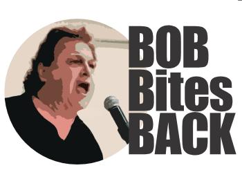 Bob's face and logo