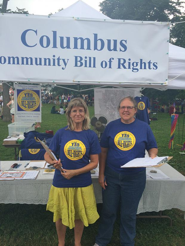 People tabling for the Bill of Rights