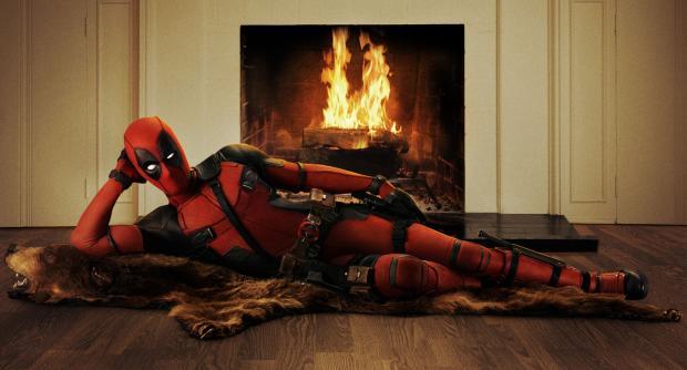 Spiderman lounging