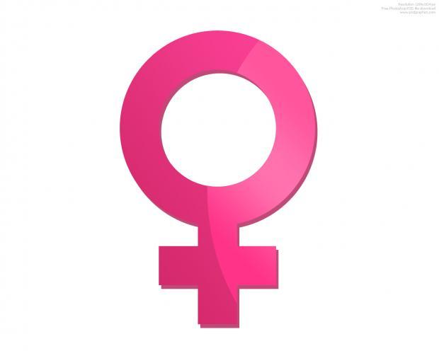 Pink female symbol