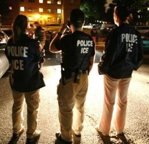 Three police ICE officers