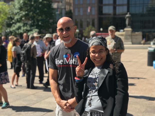 Joe Motil and Young Latina woman