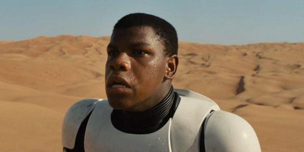 Star Wars character John Boyega in space suit