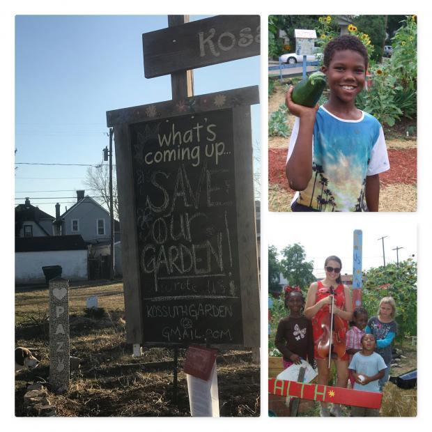 Collage of photos from Kossuth St Garden