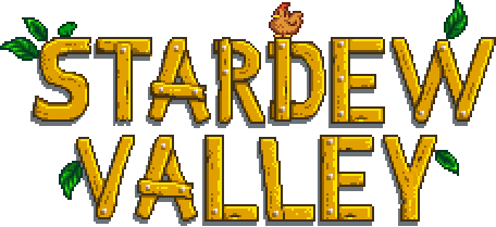 Words Stardew Valley like the letters are made out of woo