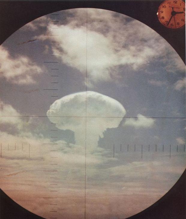 Mushroom cloud in a circle