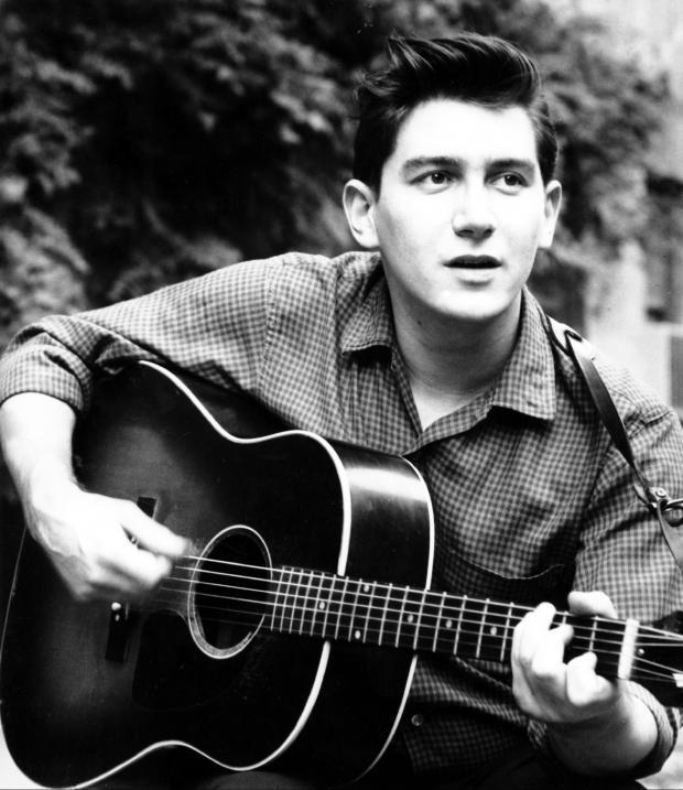 Young Phil Ochs in black and white