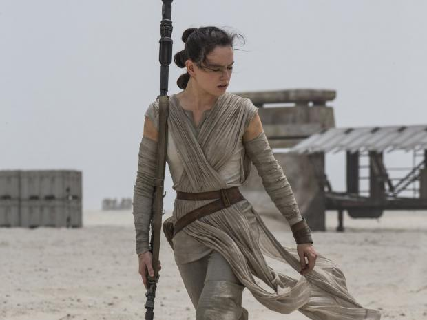 Female Star Wars character walking