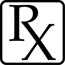 Big black letters a R and a X attached to each other with black box around it
