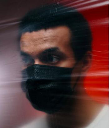 Black man in COVID mask