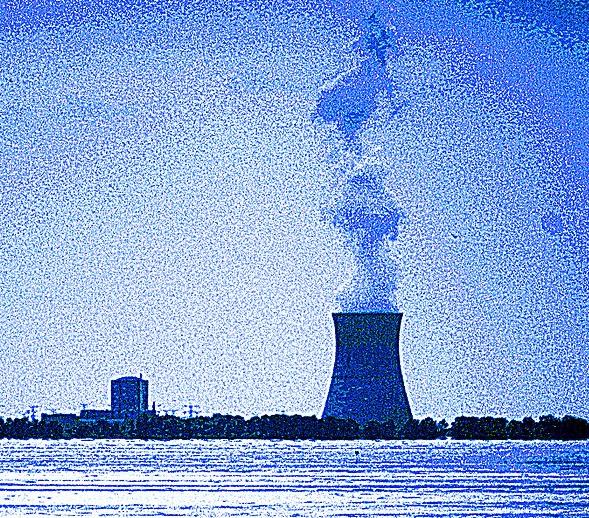 Nuke plant spewing smoke