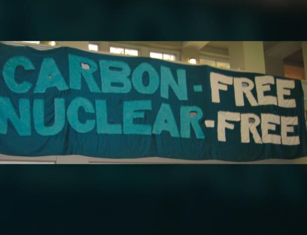 Carbon-Free, Nuclear-Free banner
