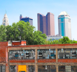 Building and Columbus skyline