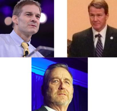 Three white men