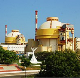 Strange round topped factory looking buildings