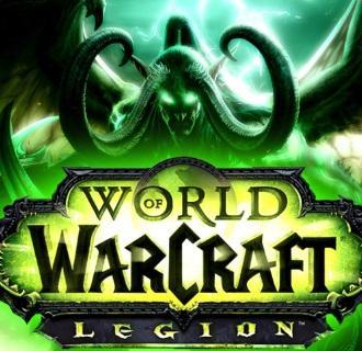 World of Warcraft Legion logo with demon