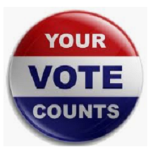 Button that says Your Vote Counts