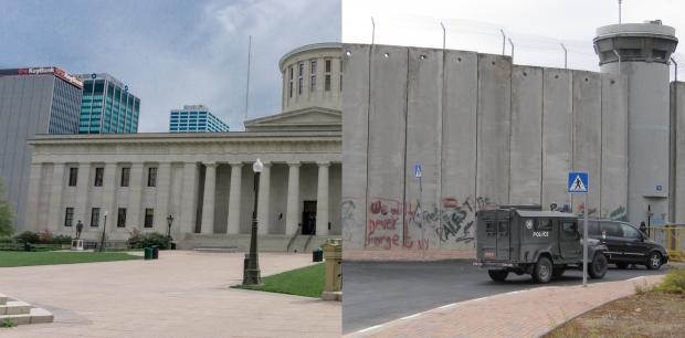 Ohio Statehouse and Palestine