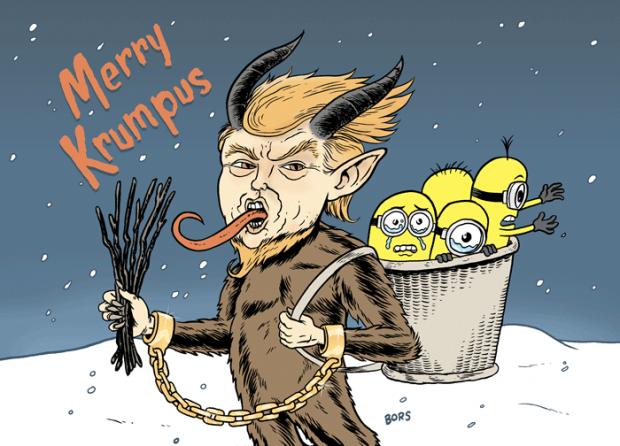 Trump as devil Santa