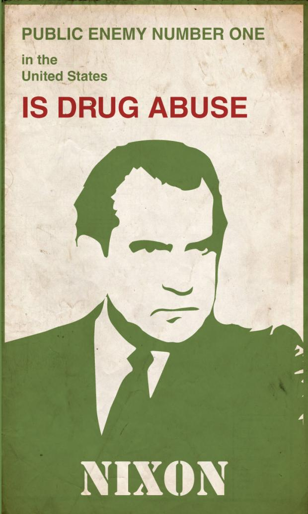 Poster of Nixon about the drug war