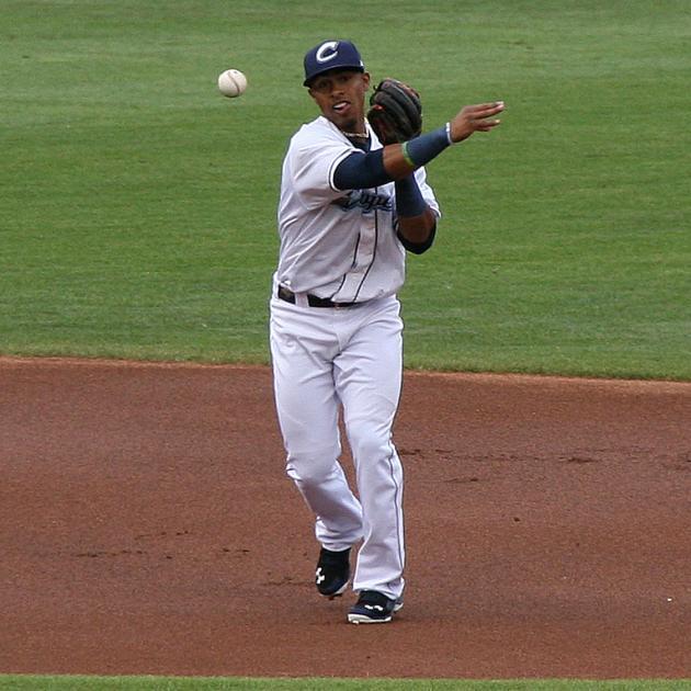 Lindor throwing baseball