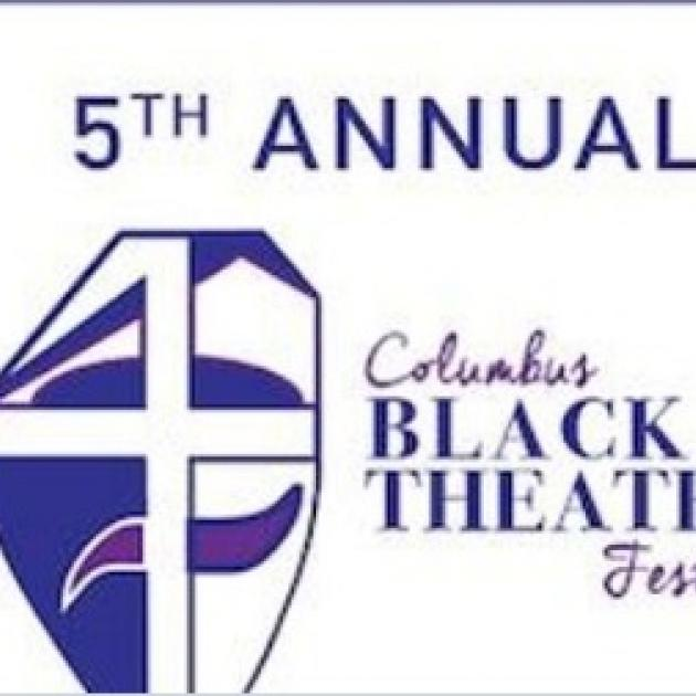 words 5th annual Columbus Black Theater Festival with logo