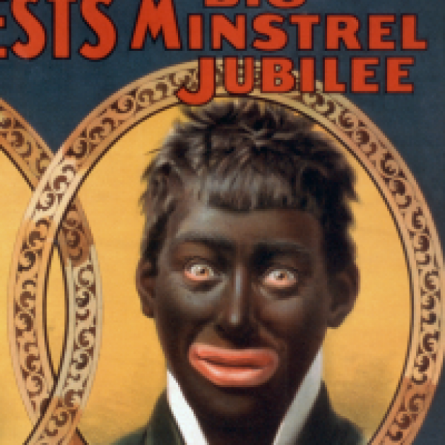 Man in blackface from minstrel show