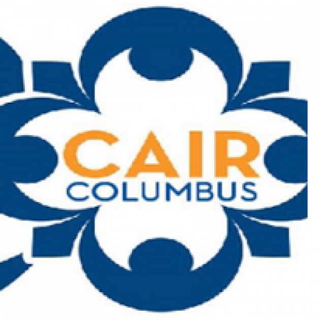 Words CAIR Columbus inside a flowery image