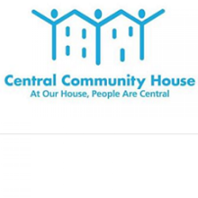 Words Central Community House and logo of people and houses