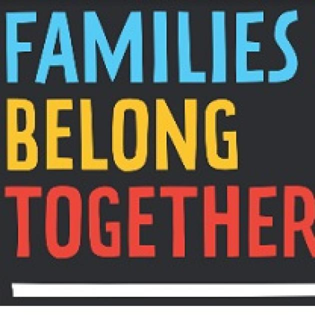 Words Families Belong Together against a black background