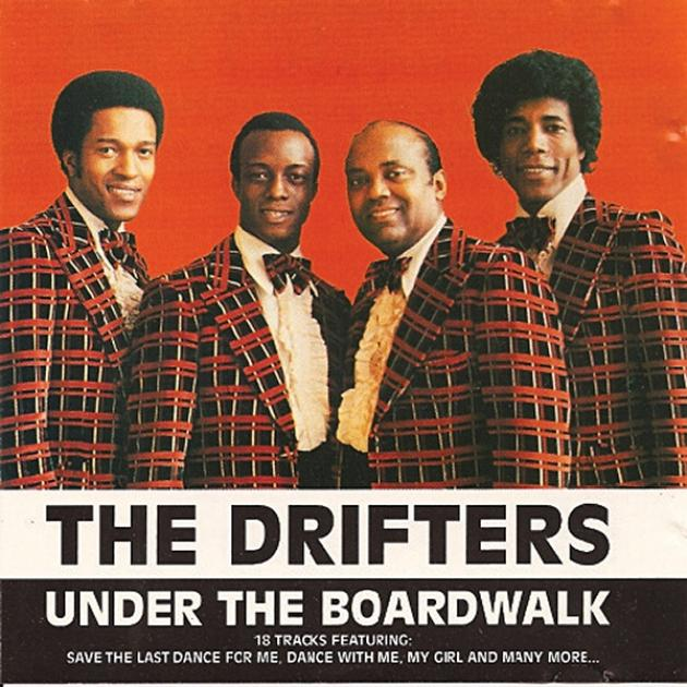 Old album cover of the Drifters