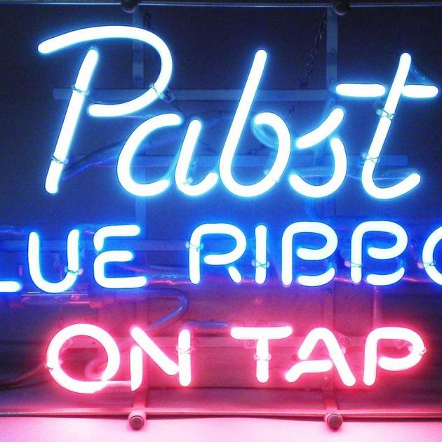 Pabst Blue Ribbon sign