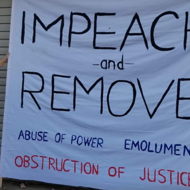 Impeach and remove banner