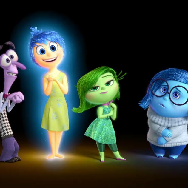 The emotions (from left) Anger (Lewis Black), Fear (Bill Hader), Joy (Amy Poehler), Disgust (Mindy Kaling) and Sadness (Phyllis Smith) represent the personality of the 11-year-old heroine in Inside Out (Disney/Pixar photo)
