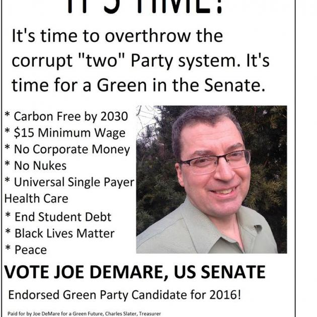 Joe DeMare flyer