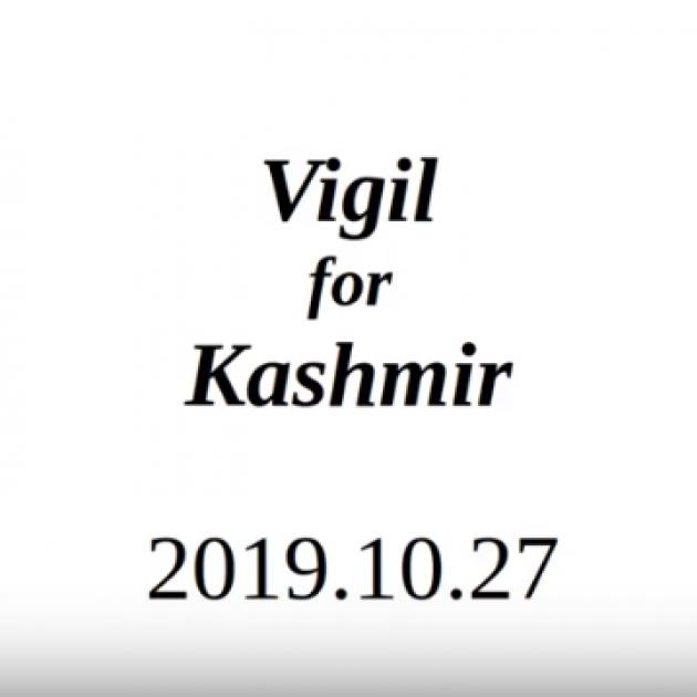 Words Vigil for Kashmir 2019.10.27