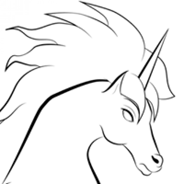 Line drawing of a horse