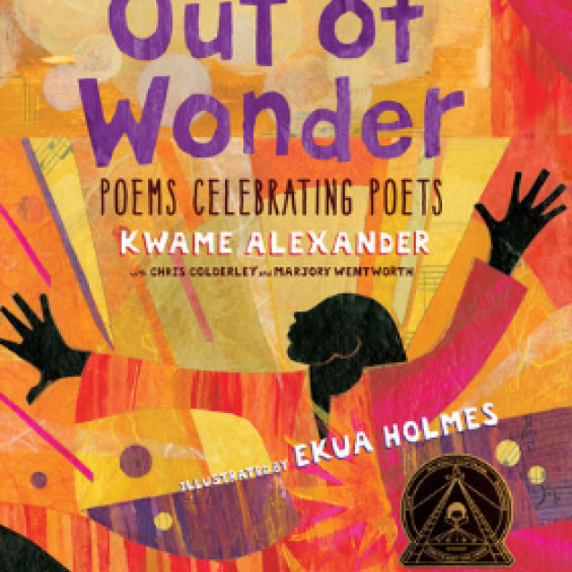 Colorful book cover with title Out of Wonder