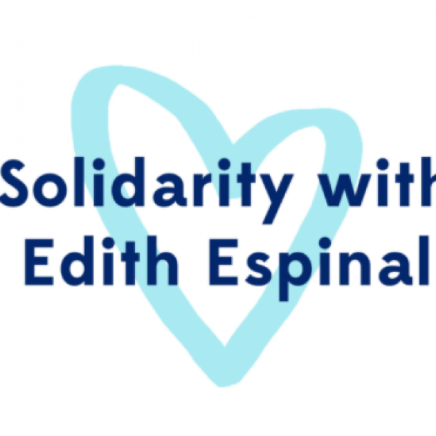 Words Solidarity with Edith Espinal and a heart