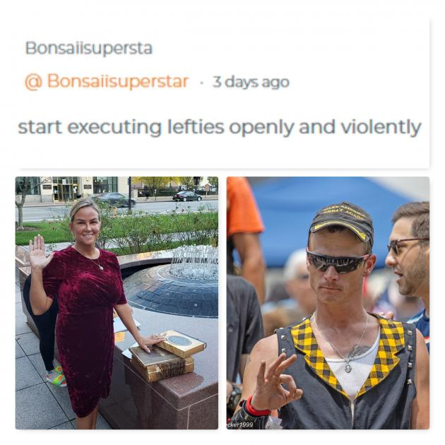 Photos of a woman to the left and a man to the left