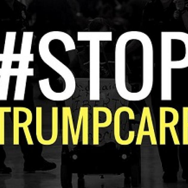 words Stop Trumpcare
