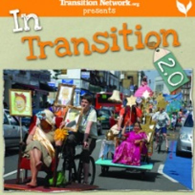 Words In Transition 2.0 and photo of people in a parade