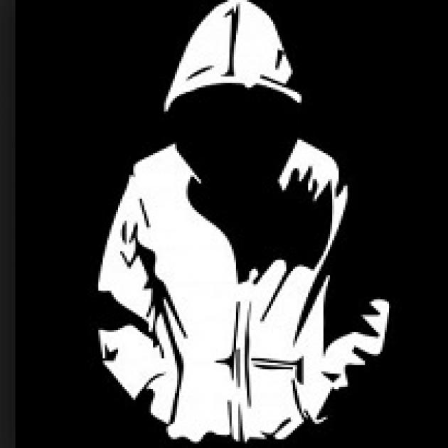 Silhouette of a boy in a hoodie