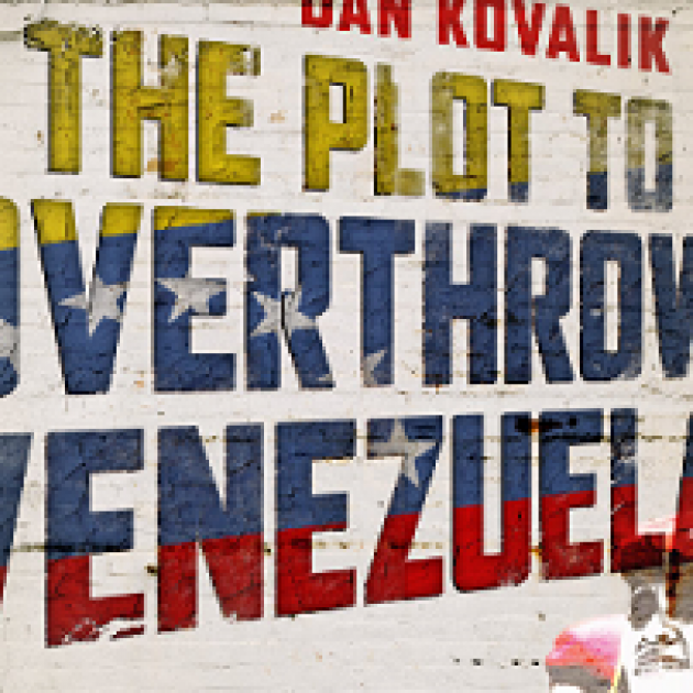 The words The Plot to Overthrow Venezuela